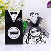"""Cherish"" Bride & Groom Style Favor Box (Set of 12)"