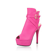 Leatherette Stiletto Heel Peep Toe With Buckle Party / Evening Shoes (More Colors)
