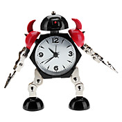 Robot Soldier Style Desktop Analog Clock Alarm (nero, 1xAAA)