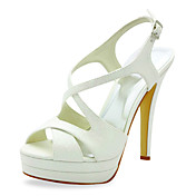 Beautiful Sparkling Glitter Stiletto Heel Sandals With Buckle Wedding Shoes (More Colors)