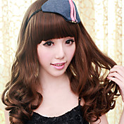 Brown Gal Gradient Color 60cm School Lolita Long Curly Lace Wig