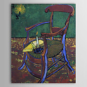Bermte oljemaleri Gauguins Chair av Van Gogh