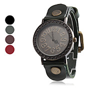 Women's Wrist Style Leather Analog Quartz Watch (Assorted Colors)