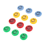 2 centimetri Colorful volto sorridente Pattern Set Magneti (12pcs)