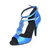 Customized Women's Satin Upper Latin / Ballroom Dance Shoes With Rhinestone (More Colors)