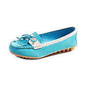 Stylish Leather Flat Heel Flats With Bowknot Party / Evening Boat Shoes(More Colors)