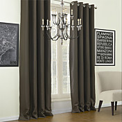 (Two Panels) Classic Solid Calm Blackout Curtains