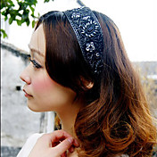Women's Vintage Light Black Guaze Headband