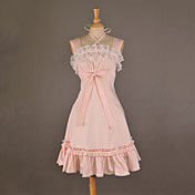 Sleeveless Knee-length Pink Cotton Sweet Lolita Dress