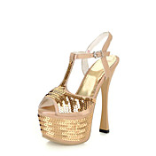 Shining PU Sequin Stiletto Heel Peep Toe Sandals Party / Evening Shoes With Platform(More Colors)