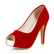 Suede Stiletto Heel Peep Toe With Split Joint Party / Evening / Wedding Shoes (More Colors)