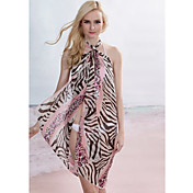 Pink Zebra Leopard Sarong (Lngde: 150cm Bredde: 105CM)