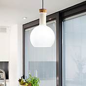 60W Chic Pendant Light with Glass Shade in Flask Design (E27/E26)