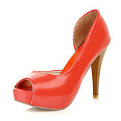 Chic Patent Leather Stiletto Heel Peep Toe With Hollow-out Party / Evening / Shoes (More Colors)