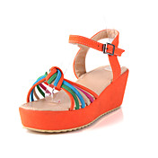 Fabulous Leatherette Platform Heel Sandals With Buckle/Split Joint Party/Evening Shoes (More Colors)