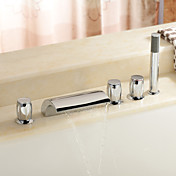 Sprinkle by Lightinthebox - Brass Waterfall Tub Faucet with Hand Shower (Three Handles)