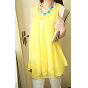 Women's Chiffon Loose Sleeveless Blouse