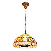 120W Artístico Tiffany Pendant Light com Colorful Nature Shell Material Sombra Integrado
