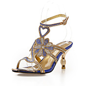 Stylish Leatherette Stiletto Heel Sandals With Rhinestone/Flower Party/Evening Shoes (More Colors)