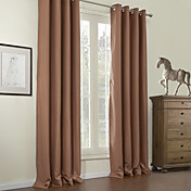 (Two Panels) Solid Classic Blackout Curtains