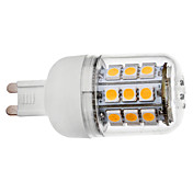 G9 3.5W 30x5050SMD 300-330LM 3000-3500K Warm White Light with Cover LED Corn Bulb (110V/220V)