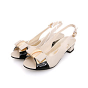 Stylish Patent Leather Low Heel Sandals With Bowknot Party / Evening Shoes (More Colors)
