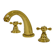 Luxury Widespread Bathroom Sink Faucet - Ti-PVD Finish