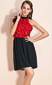 TS Wavy Floral Neck Wrapped Dress With Belt (More Colors)
