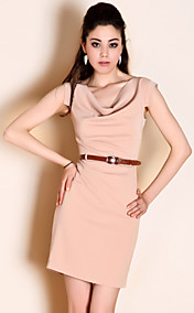 TS Simplicity Belted Cowls Slim Dress
