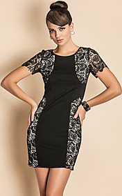 TS Lace Stitching Bodycon Dress