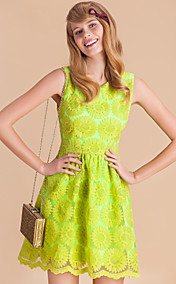 TS Heavy Embroidery Sunflower Sleeveless Dress