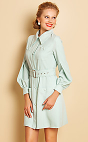 TS Lantern Sleeve Shirt Dress
