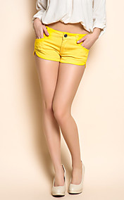 TS Garment Wash Denim Shorts Jaunes