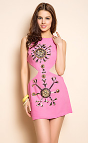 TS midriff Metal Decor Slim Dress
