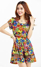 TS Rhinestones Print Dress