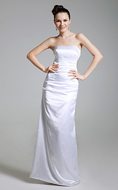 Stretch Satin Sheath/ Column Strapless Evening Dress inspired by Lauren Sanchez at Golden Globe