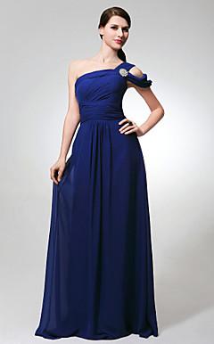 UDITH - Vestido de Madrinha em Chifon e Cetim Elástico