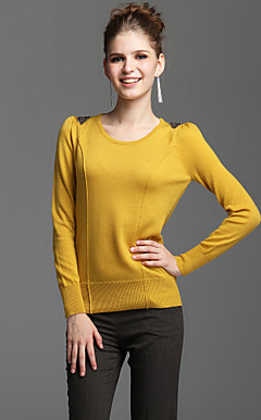 TS Wool Blend Beaded Shoulder Easy-Wear Sweater  (3 colors)