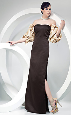 Taffeta Sheath/ Column Strapless Floor-length Evening Dress inspried by Ashley Olsen