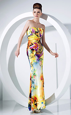 Trumpet/Mermaid Strapless Floor-length Charmeuse Evening Dress