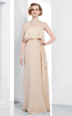 Chiffon Sheath/Column Sweetheart Floor-length Evening Dress inspired by Rumer Willis at Golden Globe Award