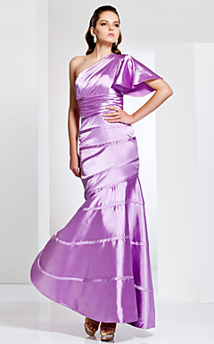 Trumpet/Mermaid One Shoulder Stretch Satin Evening Dress