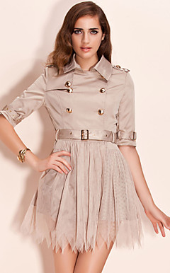 TS Mesh Skirt Trench Coat