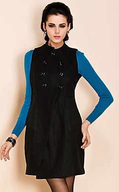 TS Double Breast Sleeveless Coat