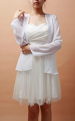Long Sleeve Chiffon ocasio especial wrap jaqueta / casamento (mais cores)
