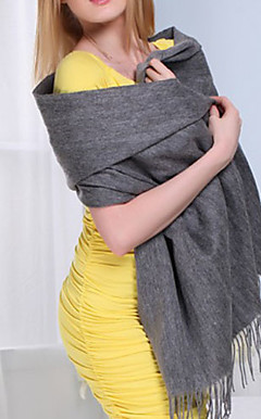 Gorgeous Wool Solid Color Daily Wear Scarf/Wrap (More Colors)