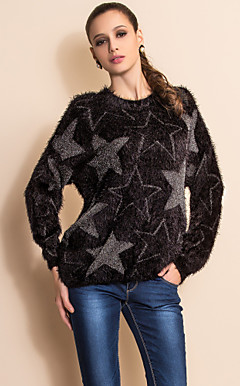 TS Star Print Plush Pullover Sweater(Two Colors)