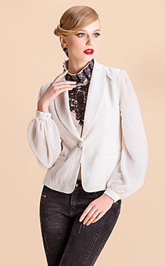 TS Simplicity Chiffon Lantern Sleeve Blazer