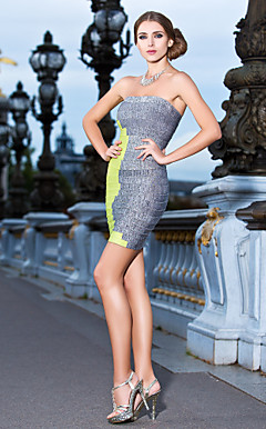 Sheath/Column Strapless Short/Mini Faddish Bandage Dress