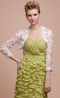 Delicate Lace 3/4-Arm Wedding / Evening Jacket